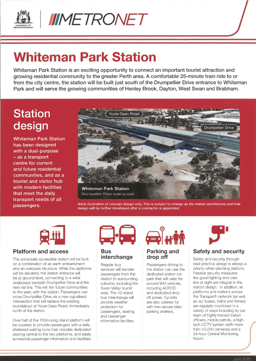 Whiteman Park station and the environment flyer