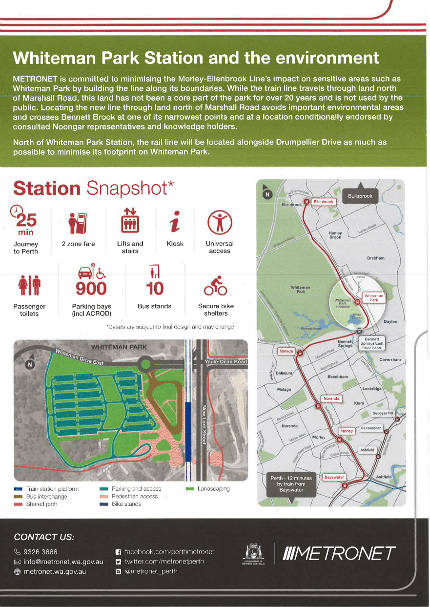 Whiteman Park Metronet station flyer